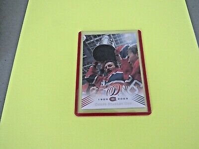 2008-09  Montreal Canadiens Centennial Parallel Cup 23 {1985-86} Card #199