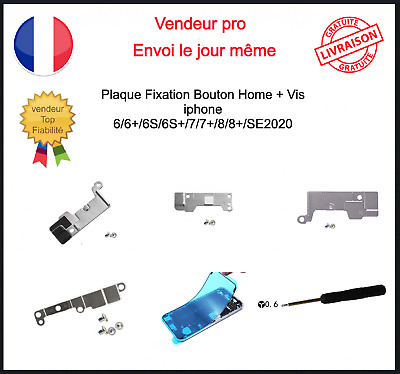 Protection Fixation Support Nappe Bouton Home Iphone 6 6plus 7 7plus 8 8plus
