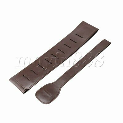 PU Leather Classic Electric Acoustic Bass Guitar Strap Belt Parts Brown