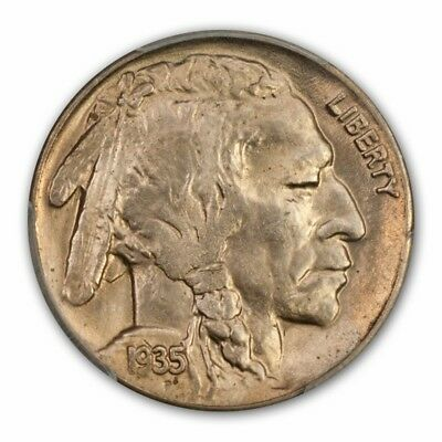1935-D 5C Buffalo Nickel PCGS MS66 (CAC)