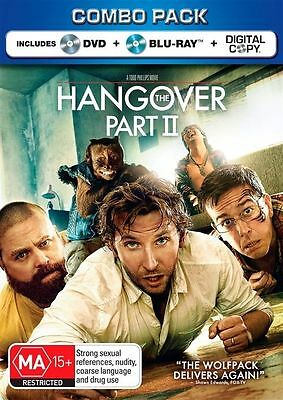 The Hangover: Part 2 - Blu-ray + DVD, 2-Disc Set (New & Sealed) Aus Region B