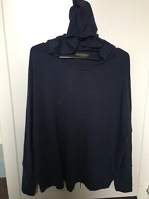 Blooming Marvellous Mothercare Maternity Set Top Hoodie L Trousers 10 Blue