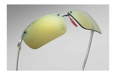 523e35ce442 Ray-Ban Scuderia Ferrari Carbon Fiber Gold Polarized Sunglasses Rb8305M  F0066B