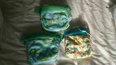Totsbots reusable cloth nappies bundle x3 new