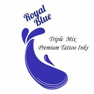 ROYAL BLUE Triple Mix Tattoo Inks Supplies 34 Colour Inks Pigments UK Made