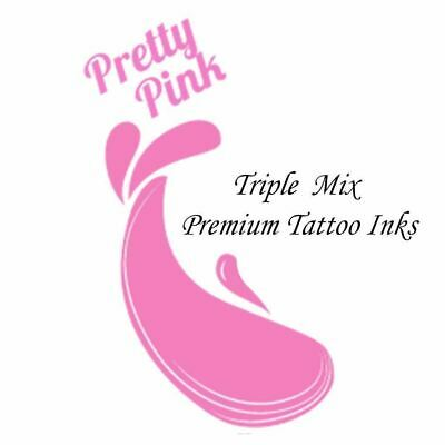 PRETTY PINK Triple Mix Tattoo Inks Supplies 34 Colour Inks Pigments UK Made