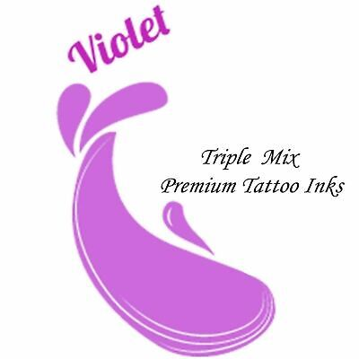 VIOLET Triple Mix Tattoo Inks Supplies 34 Colour Inks Pigments UK Made