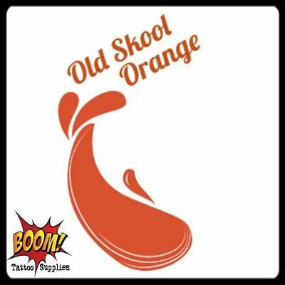 OLD SKOOL ORANGE Triple Mix Tattoo Inks Supplies 34 Colour Inks Pigments UK Made