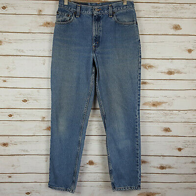 3546fdd03a3 Vtg Levis 550 Womens Blue Jeans 10 M High Waisted Relaxed Fit Tapered Leg  USA