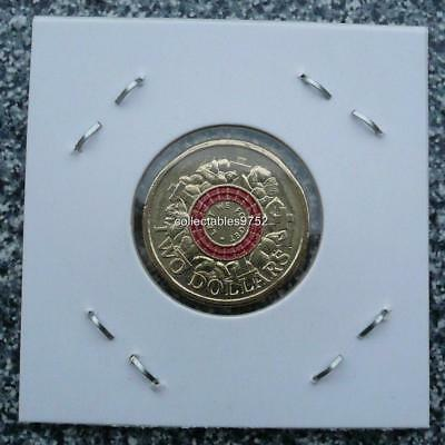 2015 RAM ANZAC Lest We Forget Two Dollar Coin Uncirculated ( Red Coin )
