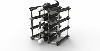 9 NOOK Wine Rack DIY, Easy 2 Step Assembly - No Hardware Required