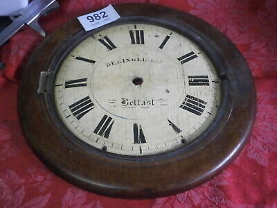 """Black Forest 8 1/2"""" Dial & 12"""" Surround wood """"BELFAST"""" wall clock fitting parts"""