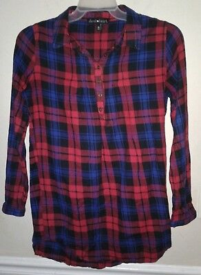 e3851bc8 WOMEN'S PLAID FLANNEL Derek Heart Shirt, Size Medium - $15.29 | PicClick