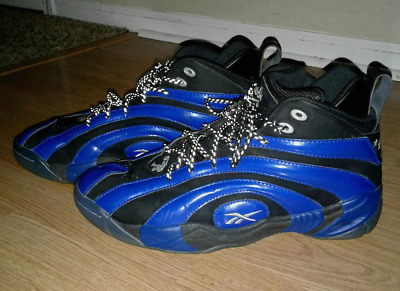 be1ff086bc3ec1 Reebok Shaqnosis OG Rivalry Orlando Black Blue Sneaker Shoes Men Size 11.5