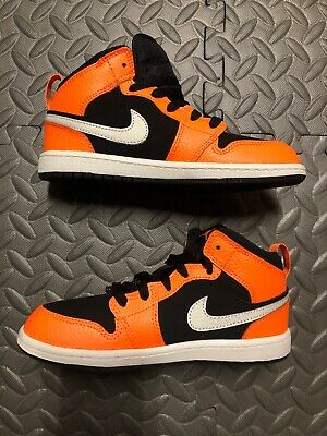 2d2b0af12f6 Nike Air Jordan 1 Mid Kid Size 2Y 640734-062 Black Cone Light Bone Cone
