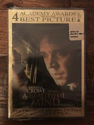 """A BEAUTIFUL MIND"" (Two-Disc Awards Edition) DVD, (Russell Crowe), NEW! SEALED!"