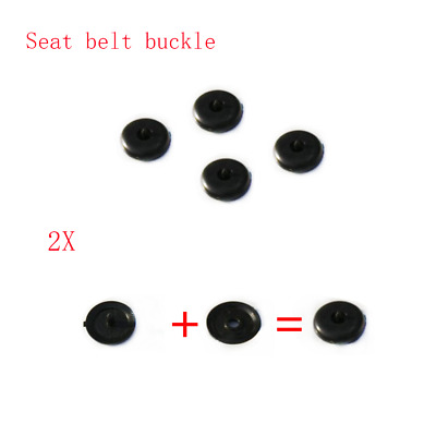 2x Universal Seat Belt Stopper Buckle Buttons Holders Studs Retainer Pin Clips