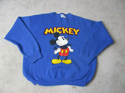ceec534d VINTAGE Mickey Mouse Sweater Adult Extra Large Blue Yellow Walt Disney  World 90s