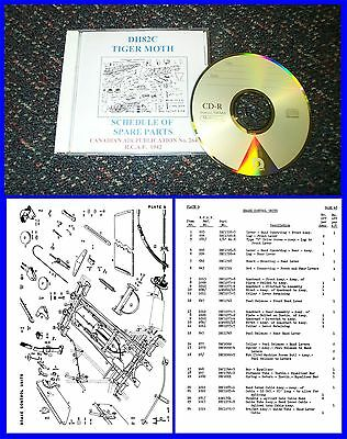 Tiger Moth - Schedule of Spare Parts DH82C Illustrated