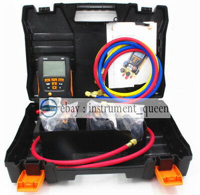 Refrigeration 557 With hoses Digital Manifold Kit testo 0563 1557 Clamp Probes
