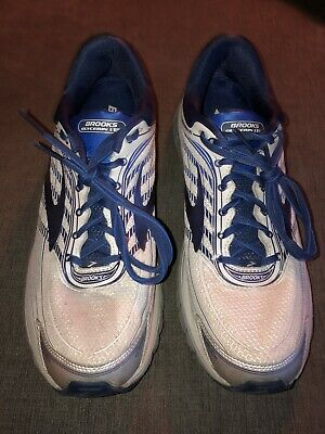 f819947be43 BROOKS MEN S GLYCERIN 15 Running Shoes Silver Navy Blue Grey Size 12 ...