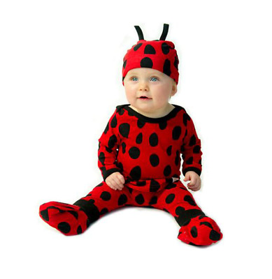 Lady Bug Baby Outfit 4 Piece Set by Noo Designs