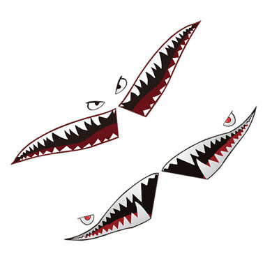 6a21b26aa1 Full Size Shark Mouth Tooth Flying Tiger Die-Cut Vinyl Car Decal Sticker