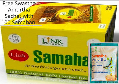 Link SAMAHAN Ayurveda Natural REMEDY Herbal Drink Sachets For Cough & Cold