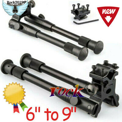 "New 6"" to 9"" Adjustable Spring Return Sniper Hunting Tactical Rifle Bipod"