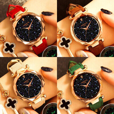 Fashion Luxury Starry Sky Women Ladies Wrist Watches Magnet Strap Free Buckle UK