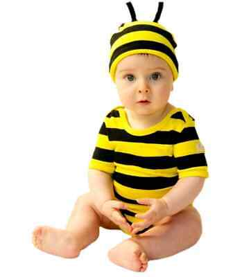 Bumble Bee Baby Outfit 2 Piece by Noo Designs