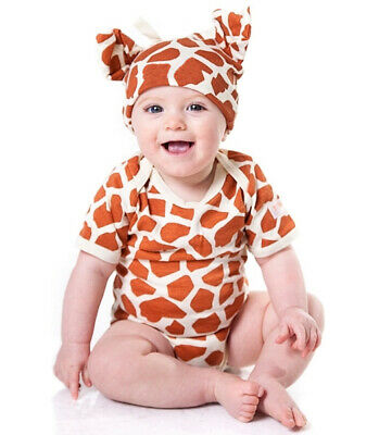 Giraffe Print Baby Outfit 2 Piece by Noo Designs