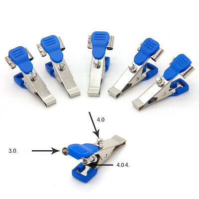5pcs Universal Veterinary ECG EKG Alligator Electrode Clip Snap Banana 4.0