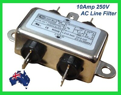 10A EMI/ RFI In Line Power Noise Filter-  250V AC LINE FILTER