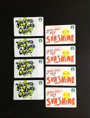 Starbucks  Recycle Paper Gift Card --- Lot Of 6 Pcs. --- New