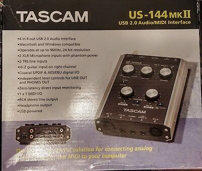 TASCAM US-144MKII USB Recording Interface - Great Sound Quality