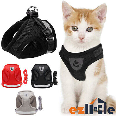 Pet Reflective Strap Vest Walking Harness Lead Dog Adjustable Small and Cat for