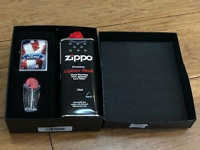 Zippo 28016 Ford Lighter With 125Ml Fluid & Flints Gift Boxed Brand New