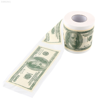 A91F Novelty Funny Toilet Paper $100 USD Dollar Money Roll Rolls Magic Toy Gift