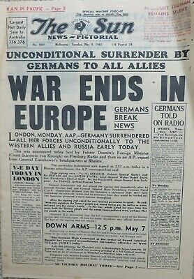 THE SUN Melbourne: VE DAY 8.5.1945.  16 pages