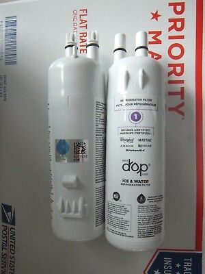 Whirlpool Refrigerator Ice Water Filter Every Drop W10295370A  2-Pack