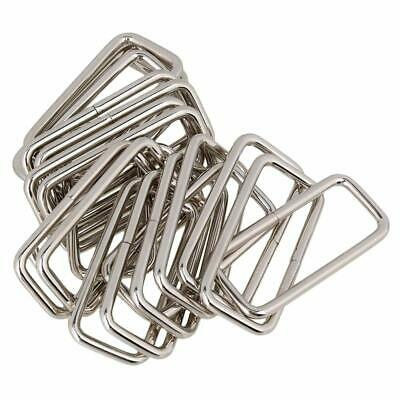 20pcs Metal Square Rings Dee Buckles Rectangle Metal Ring for Bag/Purse Handles