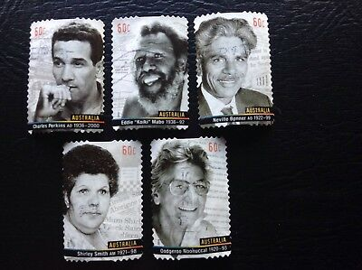 2013 Indigenous Leaders-set of 5 used P&S stamps-off paper $3.50