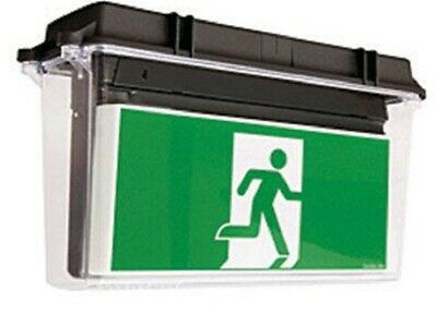 Stanilite QUICKFIT LED EXIT SIGN 466x155x274mm Picto AOW,Double Sided,Poly Cover