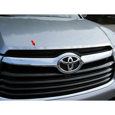 1pc. Luxury FX Stainless Steel Hood Vent Accent Trim for 14-19 Toyota Highlander