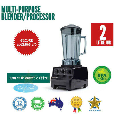 Black 2L 2200W Electric Stainless Steel Multi-Purpose Blender
