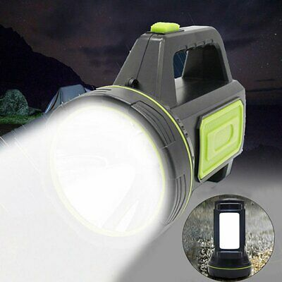 2 Modes LED rechangeable work light torch candle camping spotlight hand lamp