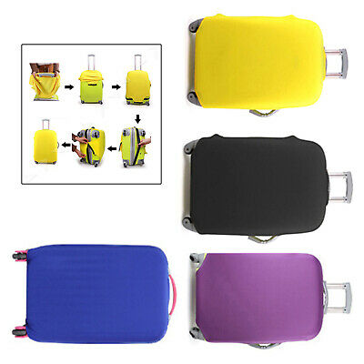 Yellow Elastic Luggage Suitcase Cover Protective Bag Dustproof Protector