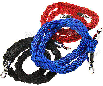 Polish Divider Crowd Control Stanchion 1.5M Twisted Red/Blue/Black Barrier Rope