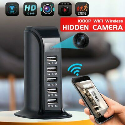 WIFI 1080P HD Wireless Hidden Camera Socket USB Charger Spy Cam Video Recorder